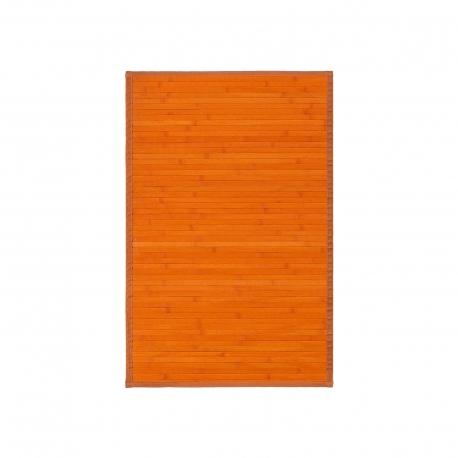 Alfombra pasillera oriental naranja de bambú de 60 x 90 cm Sol Naciente