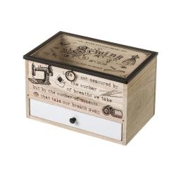 Caja costurero de madera vintage para dormitorio France