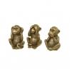Set 3 figurita mono de poliresina decoracion 15 cm (ver , oir , callar )