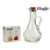 Juego 2 aceiteras de cristal con tapon de corcho , para aceite o vinagre