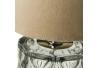 Lámpara de sobremesa base cristal beige 15x15x29 cm
