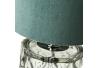 Lámpara de sobremesa base cristal esmeralda 15x15x29 cm