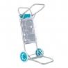 Carro portasillas plegable azul de aluminio para camping y playa Nuevo y Mejorado