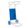 Carro portasillas plegable de playa azul de acero Garden