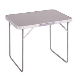 Mesa de camping plegable de acero gris para playa