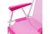 Silla plegable para playa pop de aluminio rosa Garden