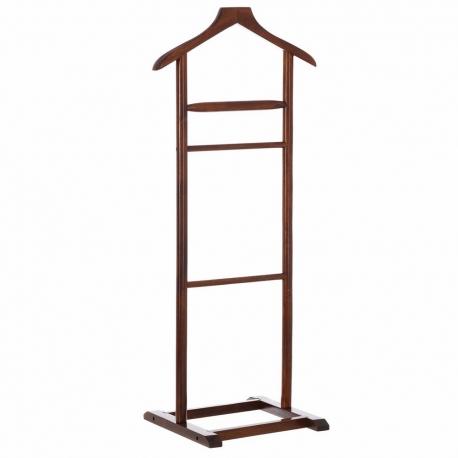 Perchero de suelo moderno marrón de madera para dormitorio de 107 cm Bretaña