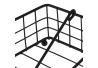 Servilletero cuadrado negro industrial de metal de 19x19x7 cm