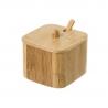 Azucarero o salero de bambu con cucharita para cocina