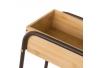 Carro para baño de bambú beige nórdico para cuarto de baño Factory