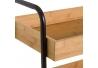 Carro bandeja de bambú beige nórdico para cuarto de baño Factory