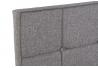 Cabecero tapizado con tela y madera en color gris