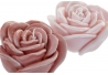 Set de 2 vela cera flor rosa