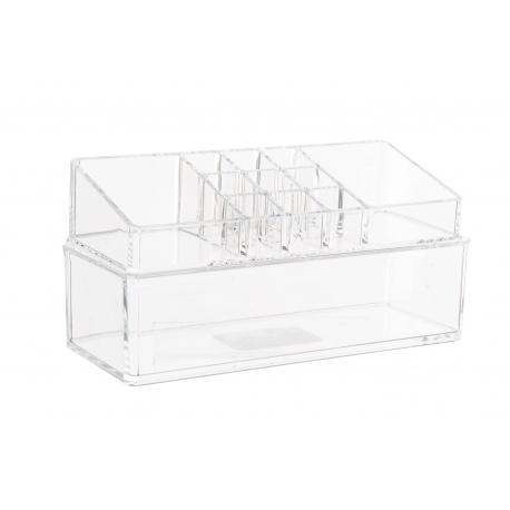 Organizador acrilico de cosméticos 12 compartimentos para baño