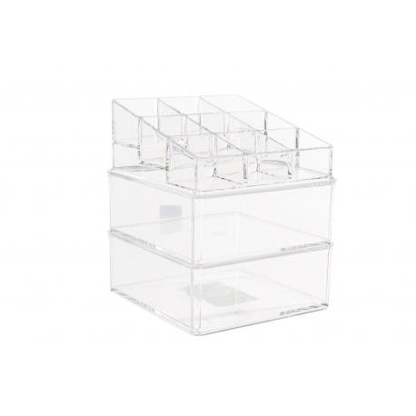 Organizador acrilico de cosméticos 11 compartimentos para baño