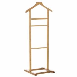 Perchero de suelo moderno beige de madera para dormitorio de 107 cm Fantasy -Galán