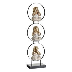 Figurita buda de suerte decoracion 63 cm (ver , oir , callar )