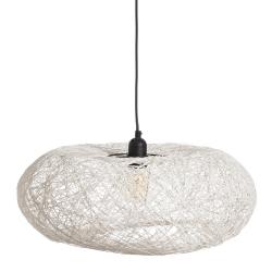 Lámpara de techo contemporánea colgante de fibra blanca de ø 50 cm