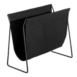 Revistero de suelo de metal negro minimalista para salón Factory