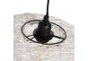 Lámpara de techo contemporánea colgante de fibra blanca de ø 30 cm