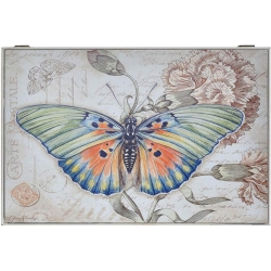 Tapa de contador diseño mariposa color claro para cuadro de luz , cubrecontador