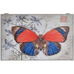 Tapa de contador diseño mariposa color vivo para cuadro de luz , cubrecontador