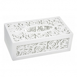 Caja porta pañuelos troquelado madera Med: 24 x 14 x 9 cm