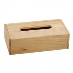 Caja porta pañuelos madera natural 24x13x7 cm