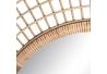 Espejo sol de bambú natural beige oriental para salón de 90 cm Sol Naciente