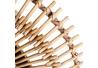 Espejo sol exótico natural de bambú, de Ø 58x5 cm