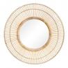 Espejo redondo natural de bambú, exótico, de Ø 80x9 cm