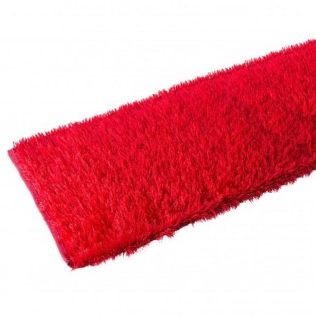 Alfombra pasillera pop roja de poliéster de 75 x 175 cm Arco Iris