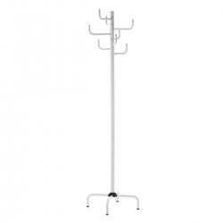 Perchero de 12 brazos moderno blanco de metal para la entrada de 180 cm