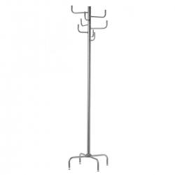 Perchero de 12 brazos moderno gris de metal para la entrada de 180 cm