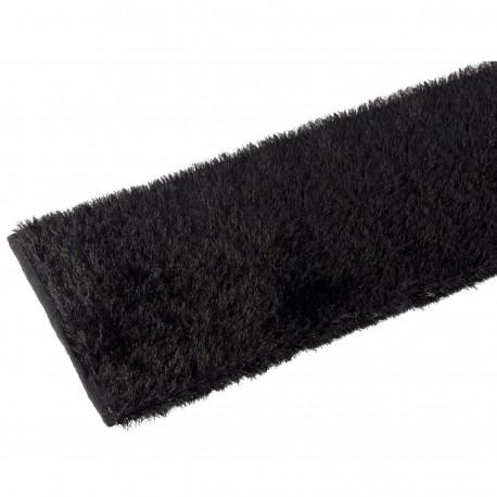 Alfombra pasillera industrial negra de poliéster de 75 x 175 cm Factory