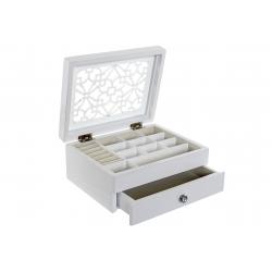 Joyero madera blanco lacado provenzal para dormitorio