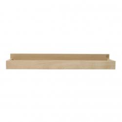 Estantería de madera de roble de pequeño tamaño en color natural.