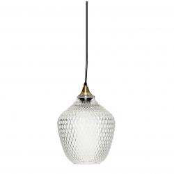 Lámpara de techo bola de cristal (Diámetro de 22 cm), transparente
