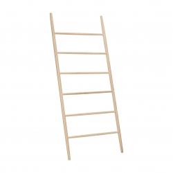Escalera madera natural estantería Toallero