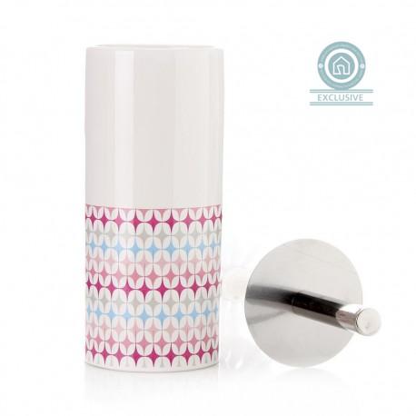 Escobilla de baño pop multicolor de cerámica para cuarto de baño Arco Iris