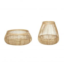 Set 2 Cesta rattan de alta calidad decorativa super grande