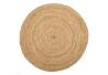 Alfombra redonda de fibra natural beige rústica para decoración de 100 cm France