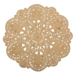 Alfombra de flores de fibra natural beige rústica para salón de 120 cm France