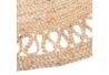 Alfombra rústico redonda trenzada beige de yute de ø 120 cm