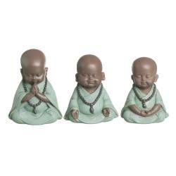 Set 3 figurita buda de suerte poliresina decoracion (ver , oir , callar )