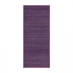 Alfombra pasillera provenzal lila de bambú de 75 x 175 cm France