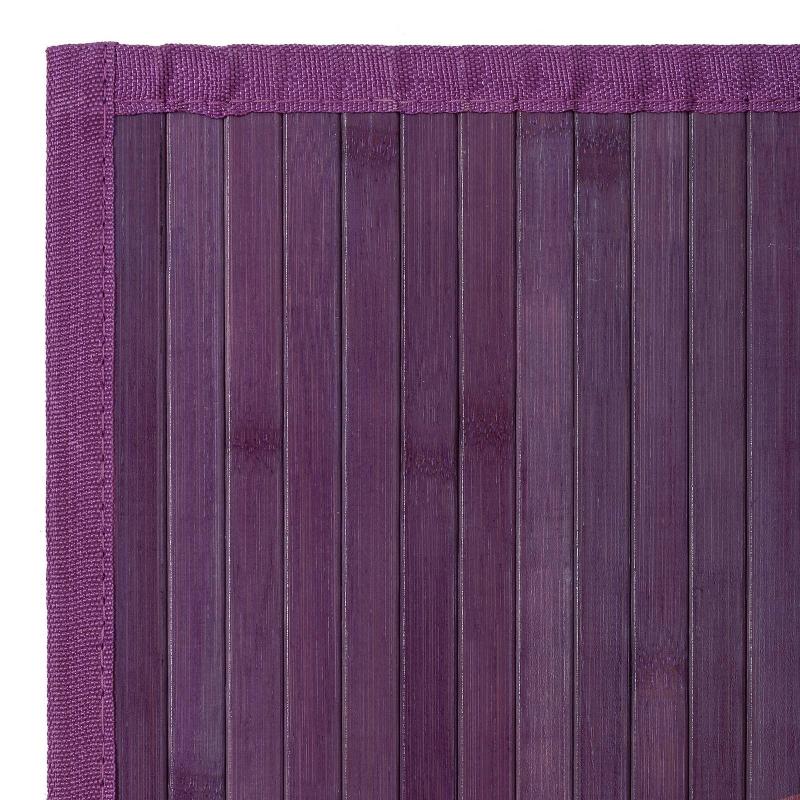 Alfombra pasillera provenzal lila de bambú antideslizante ...