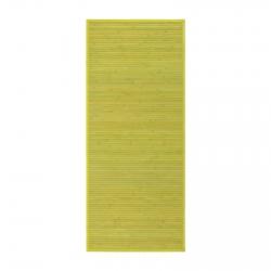 Alfombra pasillera oriental verde de bambú de 75 x 175 cm Sol Naciente