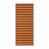 Alfombra pasillera pop naranja de bambú de 75 x 175 cm Iris