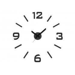 Reloj de Pared 3D Adhesivos DIY negro 60cm